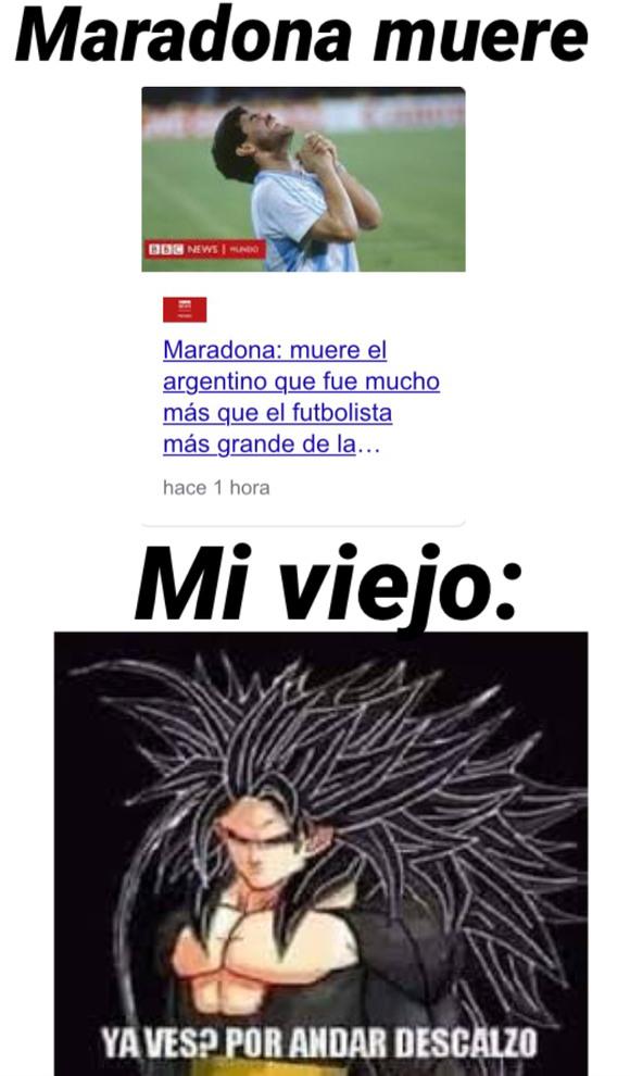 El título se fue con Maradona - meme