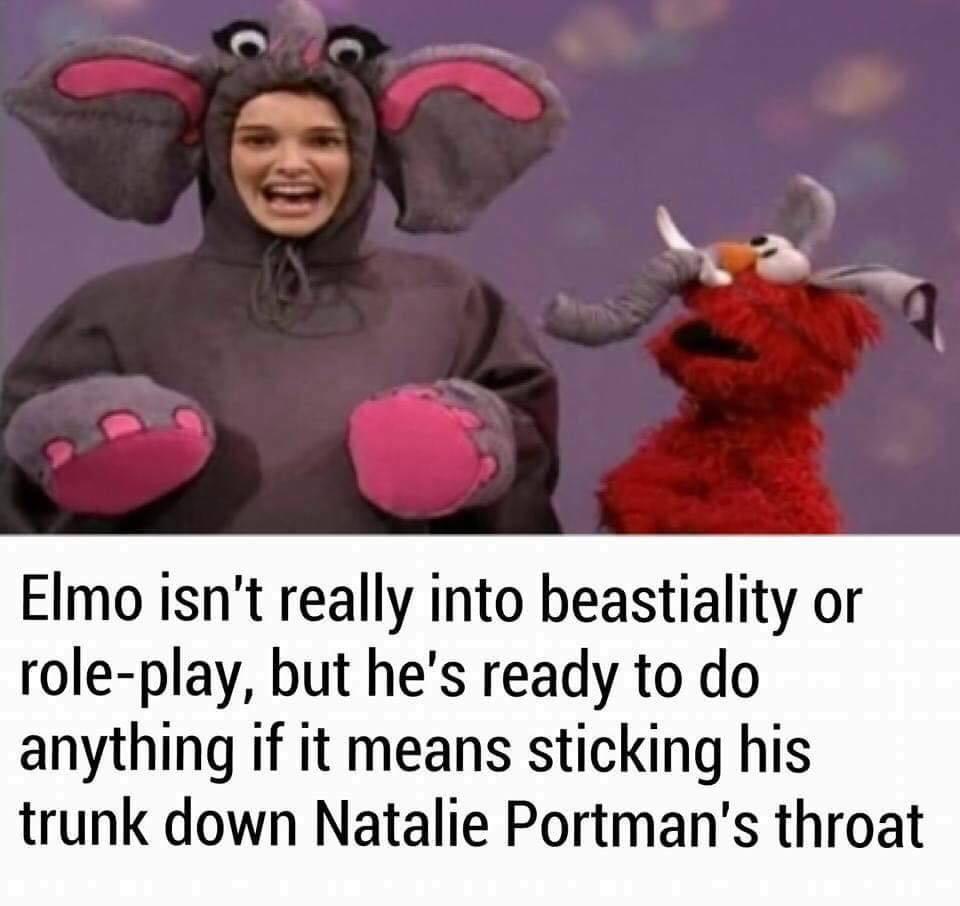 Tickle me arsehole, Elmo - meme