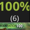 MODERATION 100