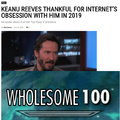 Keanu Reeves thankful for Internet's obsession with him in 2019