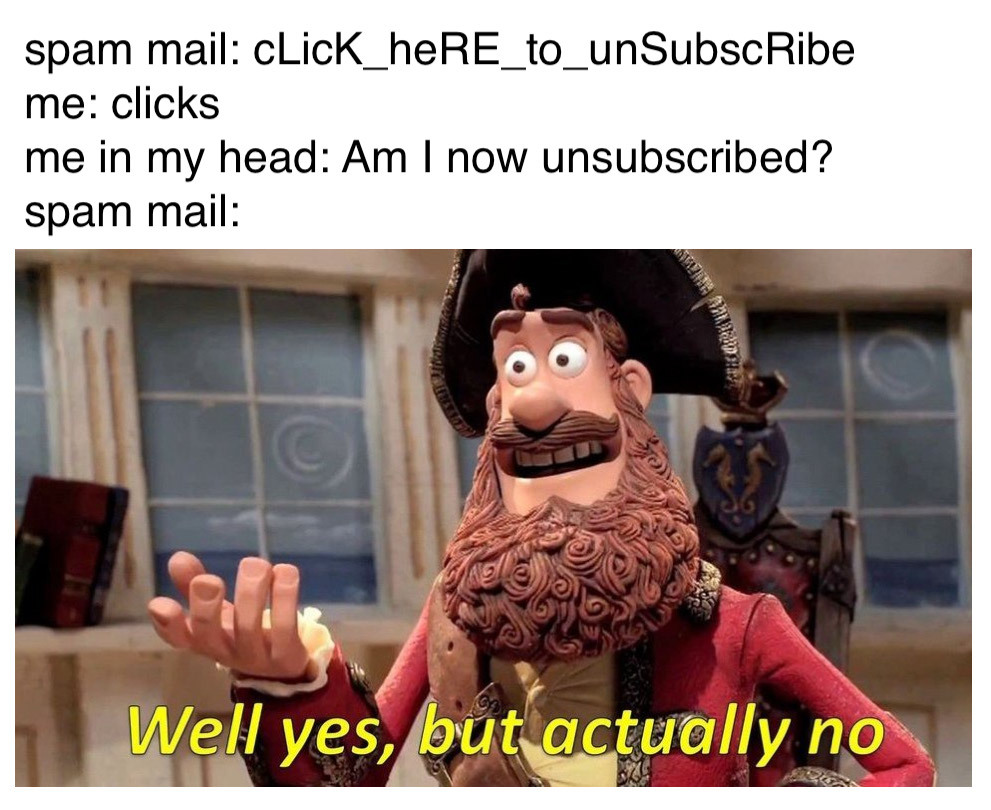 spam mail though - meme