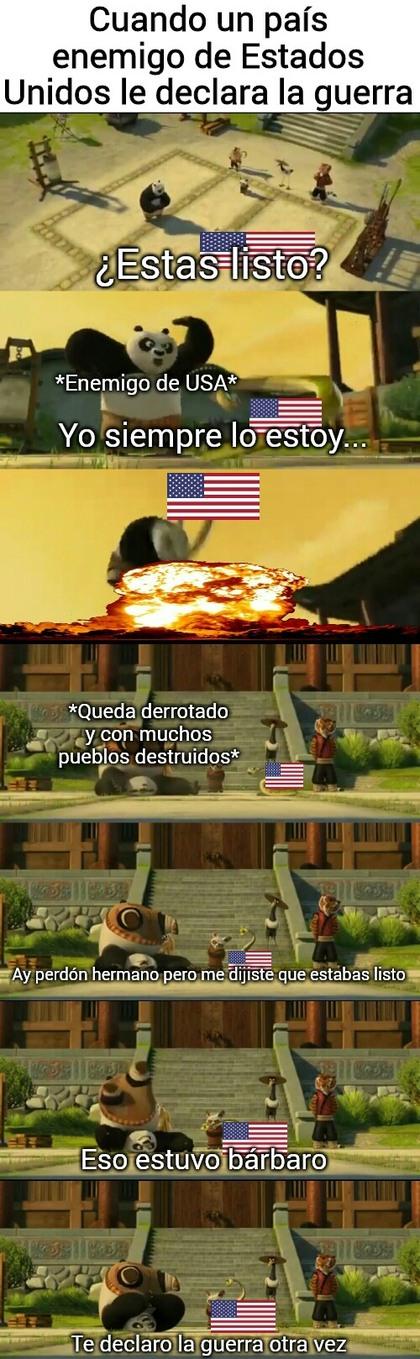 Básicamente así han sido las guerras de USA - meme