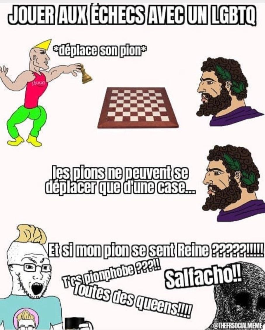 Mais laissez moi jouer aux échecs en paix bordel - meme