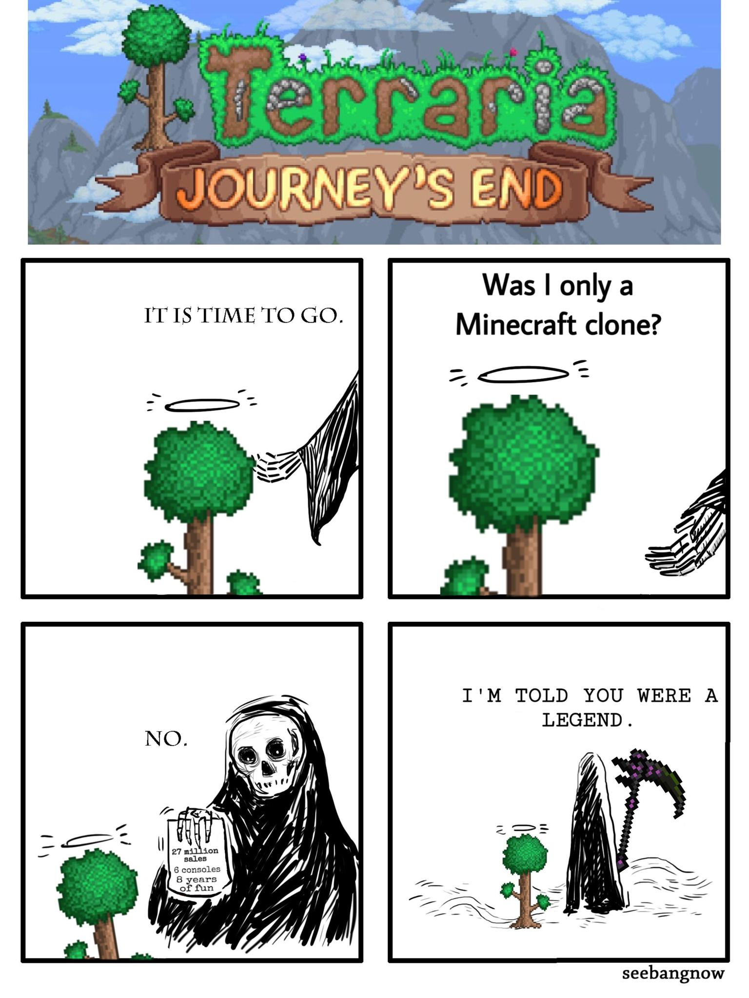 Terraria: Journey's End is going to be released on Terraria's birthday. - meme