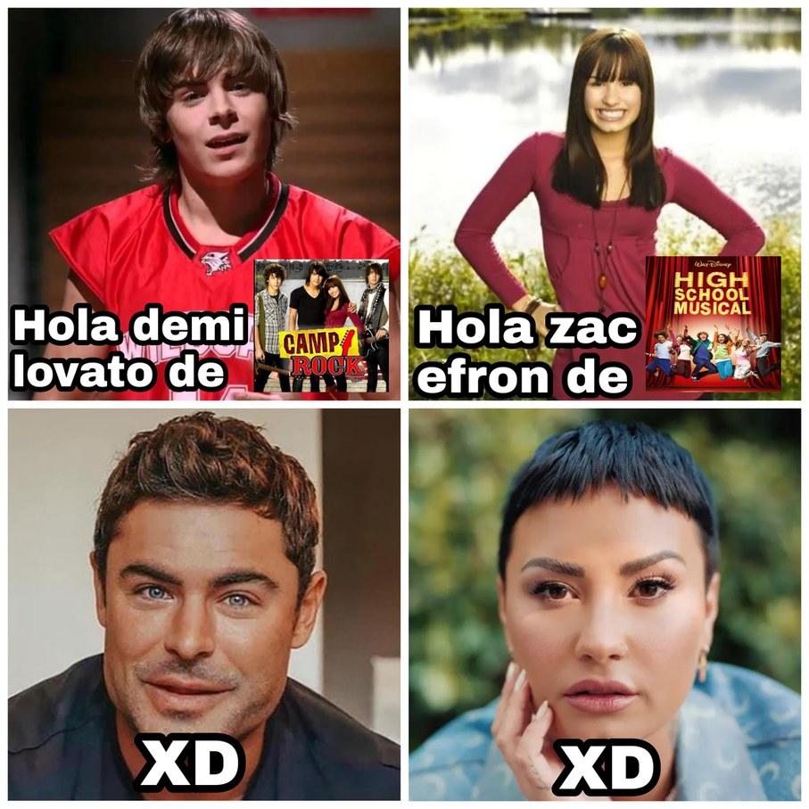 Hola Demi Lovato, hola Zac Efron - meme