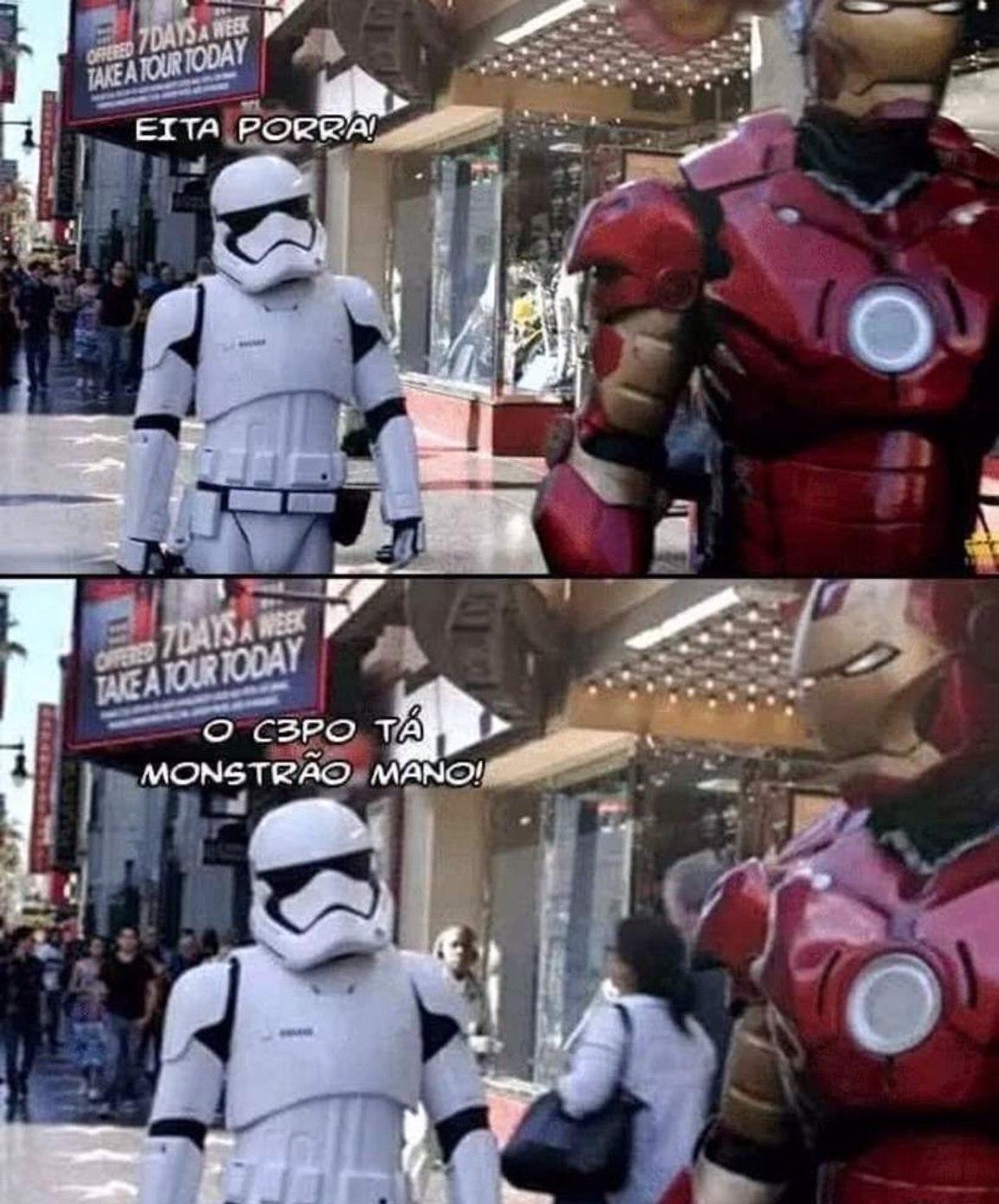 o novo C3PO - meme