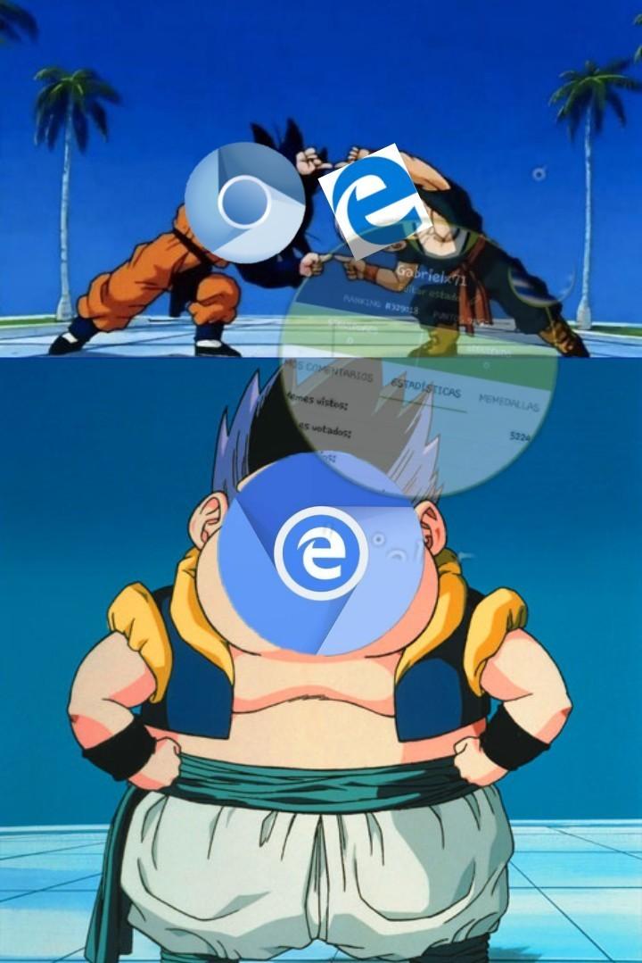 """Edge chromium es el """"nuevo"""" navegador que Microsoft sacará pd: es un meme, no necesariamente va a ser malo o bueno"""
