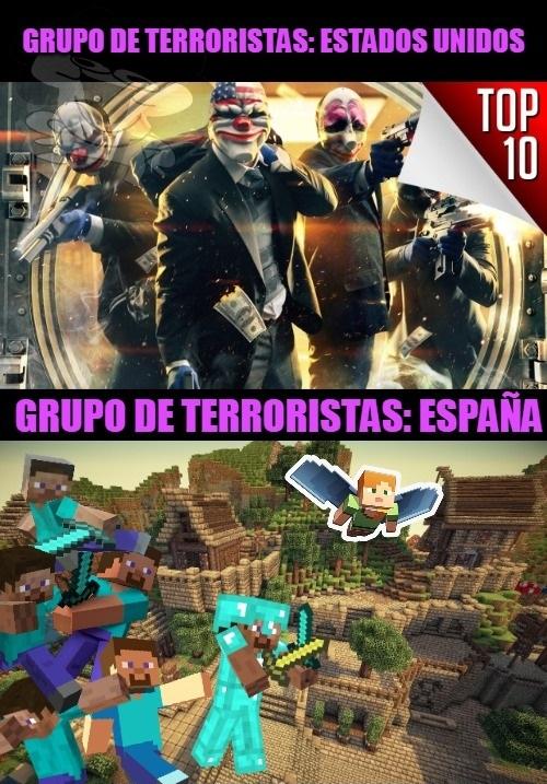 España, el país con los peores criminales del planeta. - meme