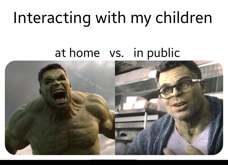 Can't beat children in public anymore. - meme