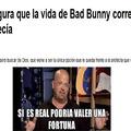 El título fue al funeral de Bad Bunny   B)