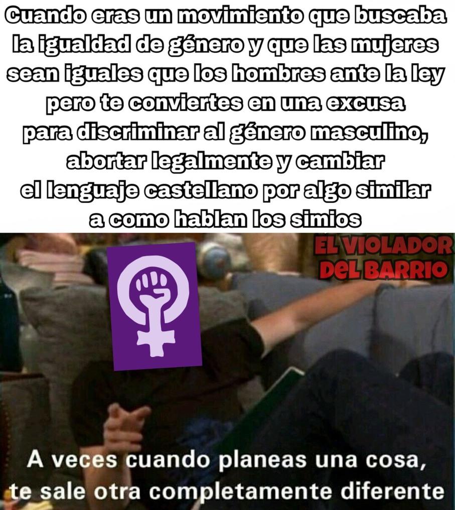 Malditas feministas, arruinaron el feminismo - meme