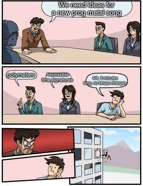 Prog metal boardroom meeting suggestion - meme