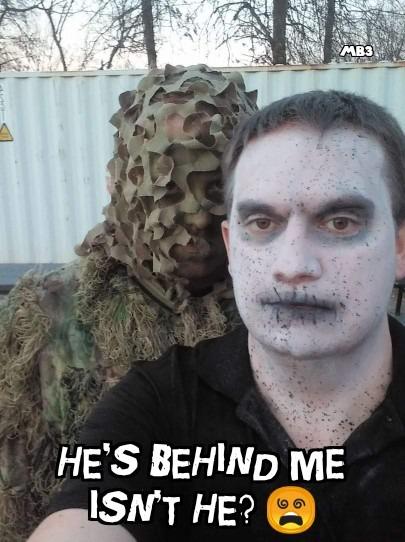 Behind me - meme