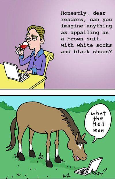 Title likes horses - meme