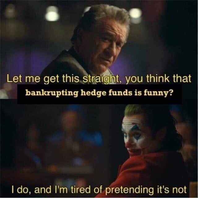 Hedge funds go boom - meme