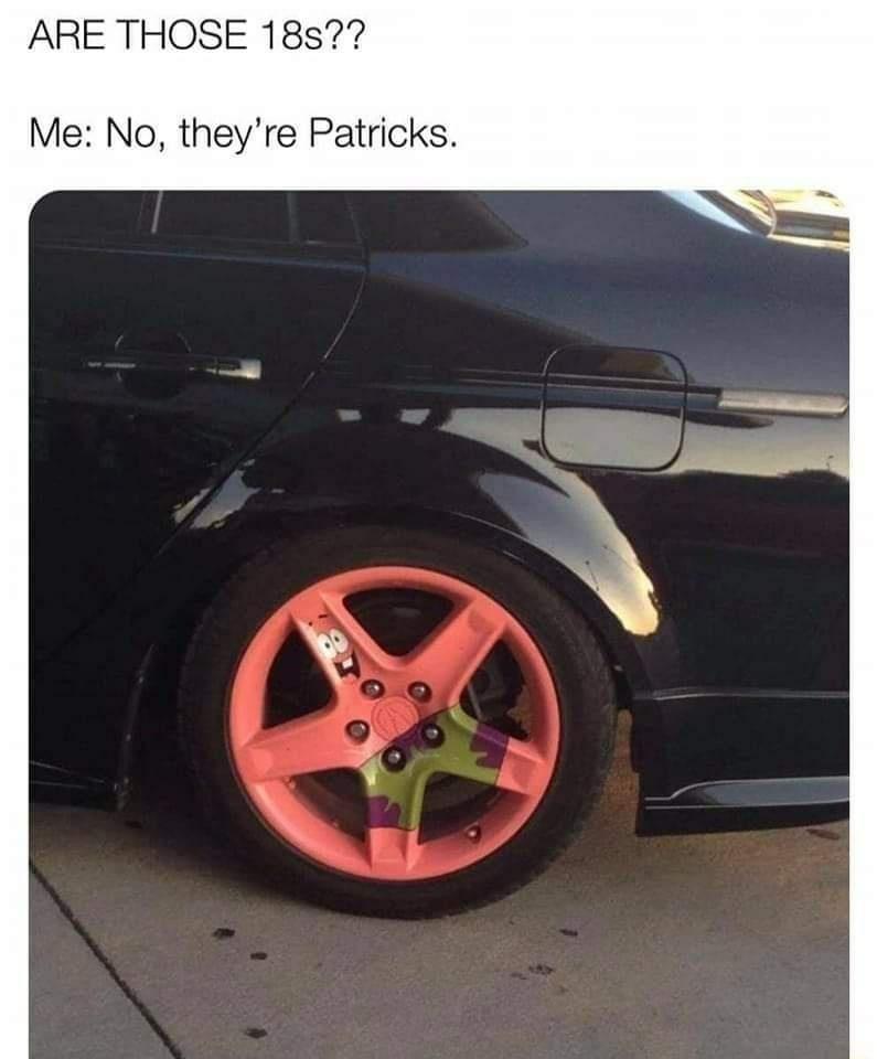 Patricks are superior - meme