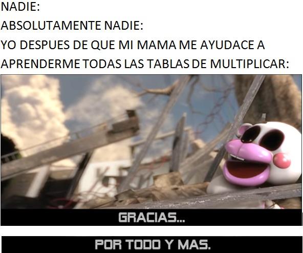 GRACIAS . . . POR TODO Y MAS - meme