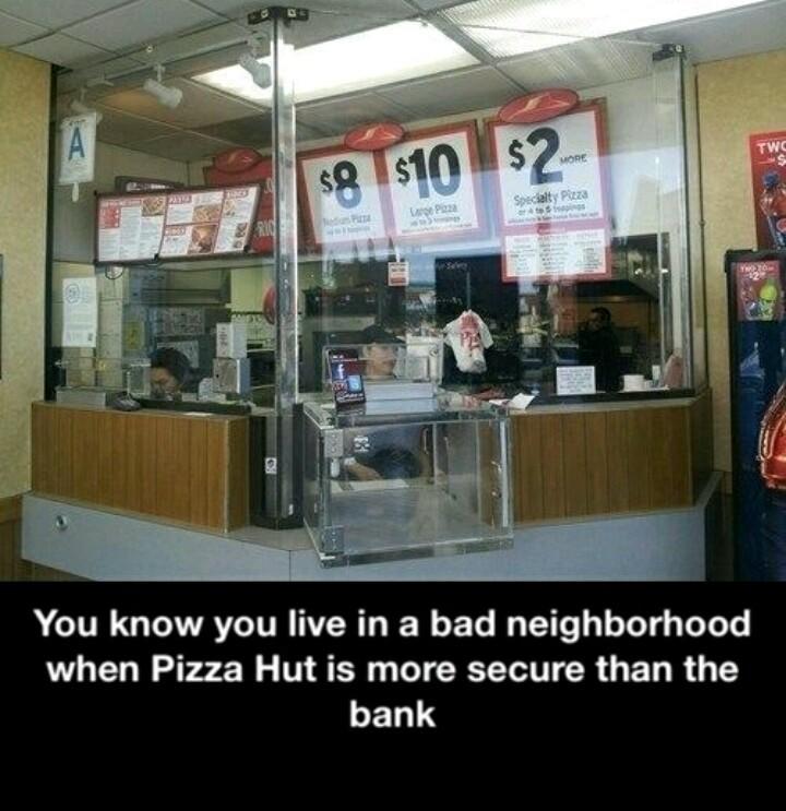 Pizza hut is hut - meme