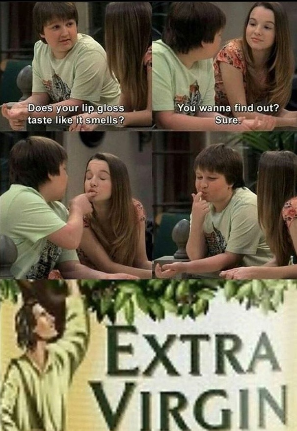 I don't remember two and a half men being good - meme