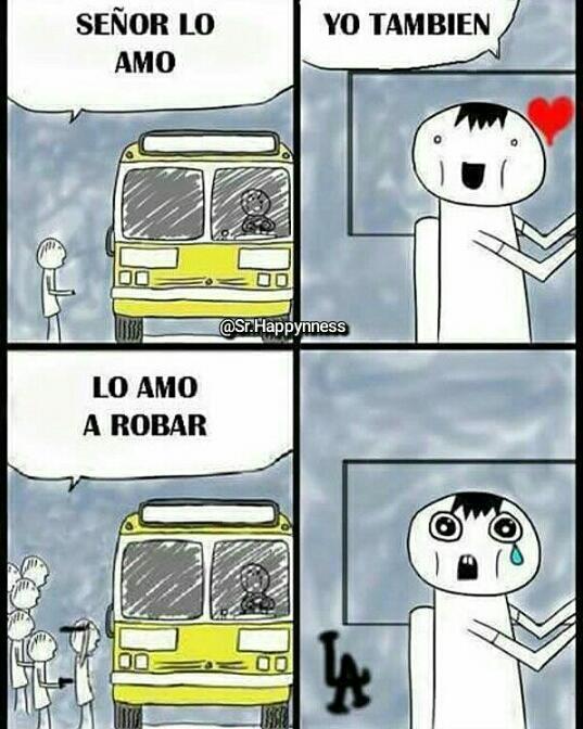 Amo el conductor - meme