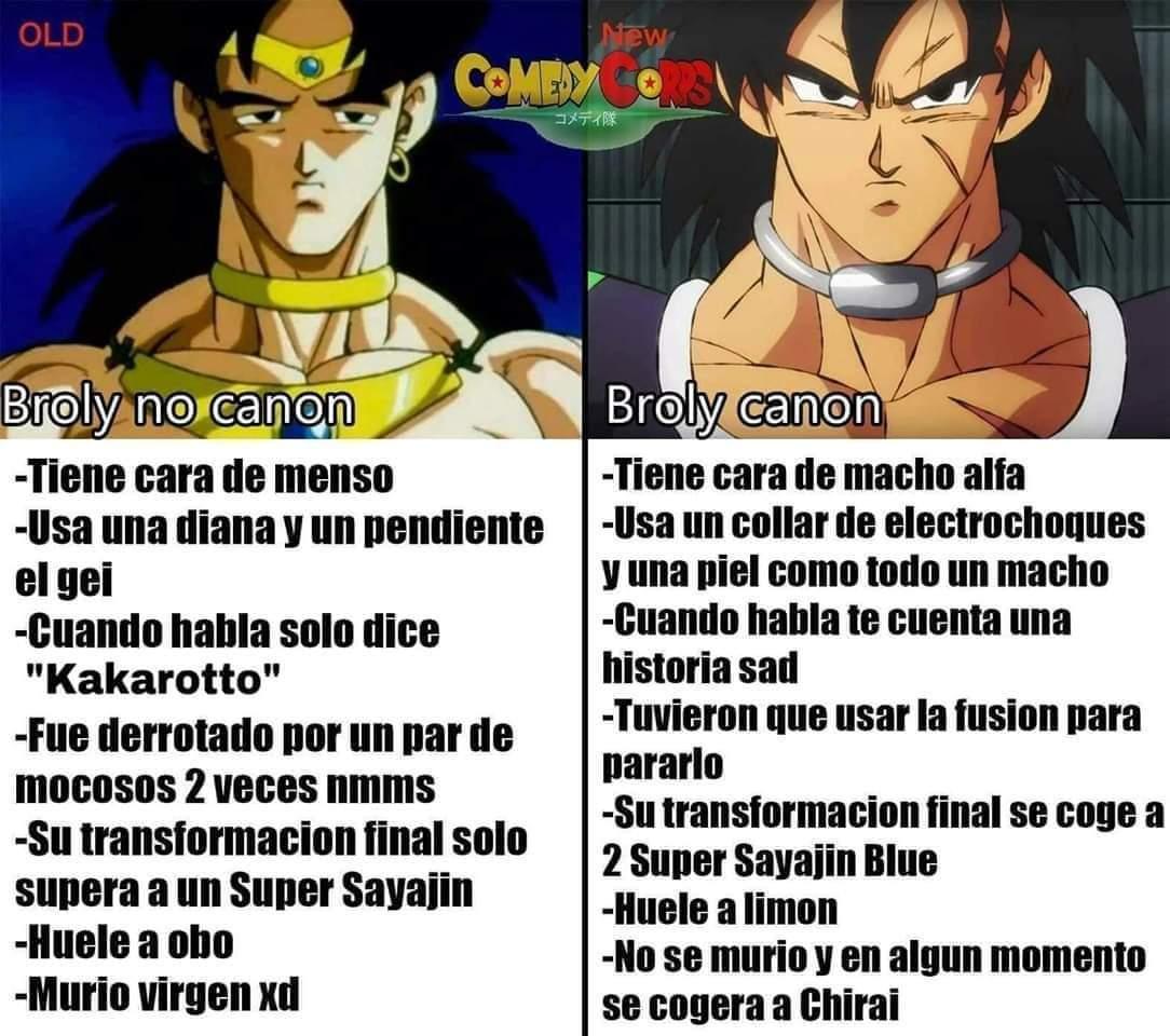 El broly retrasado vs el broly sad - meme