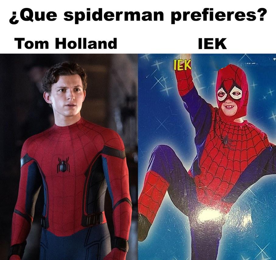 IEK, el mejor spiderman de la historia - meme