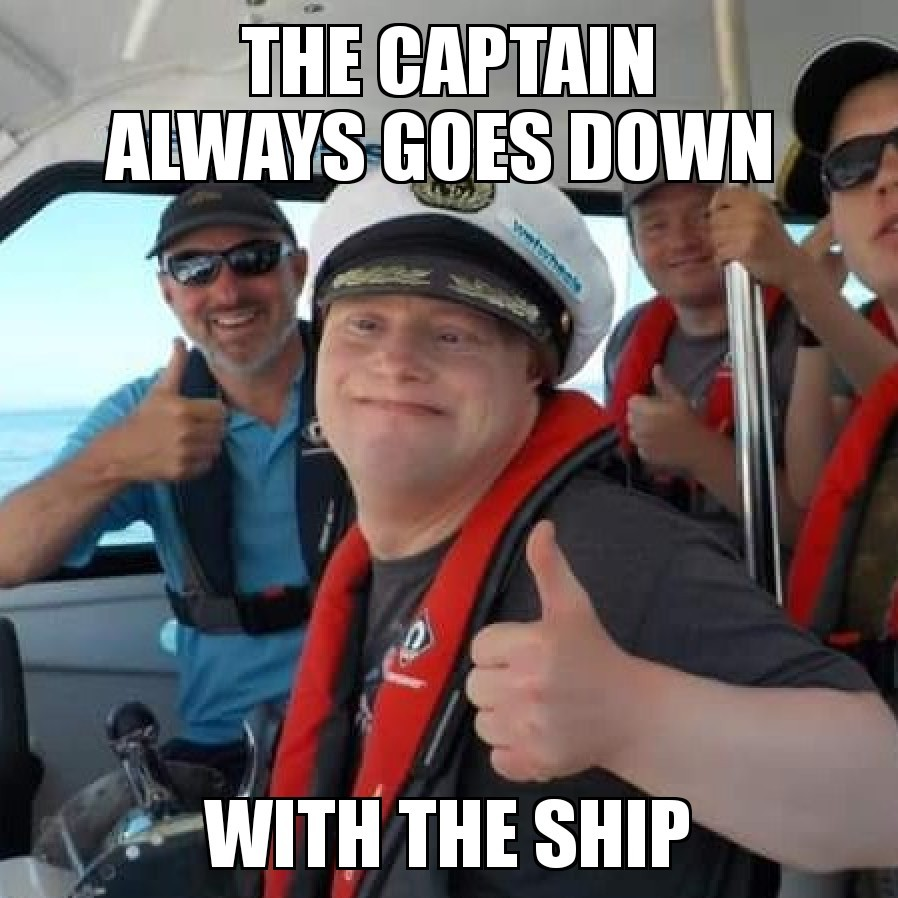 Down with the ship - meme