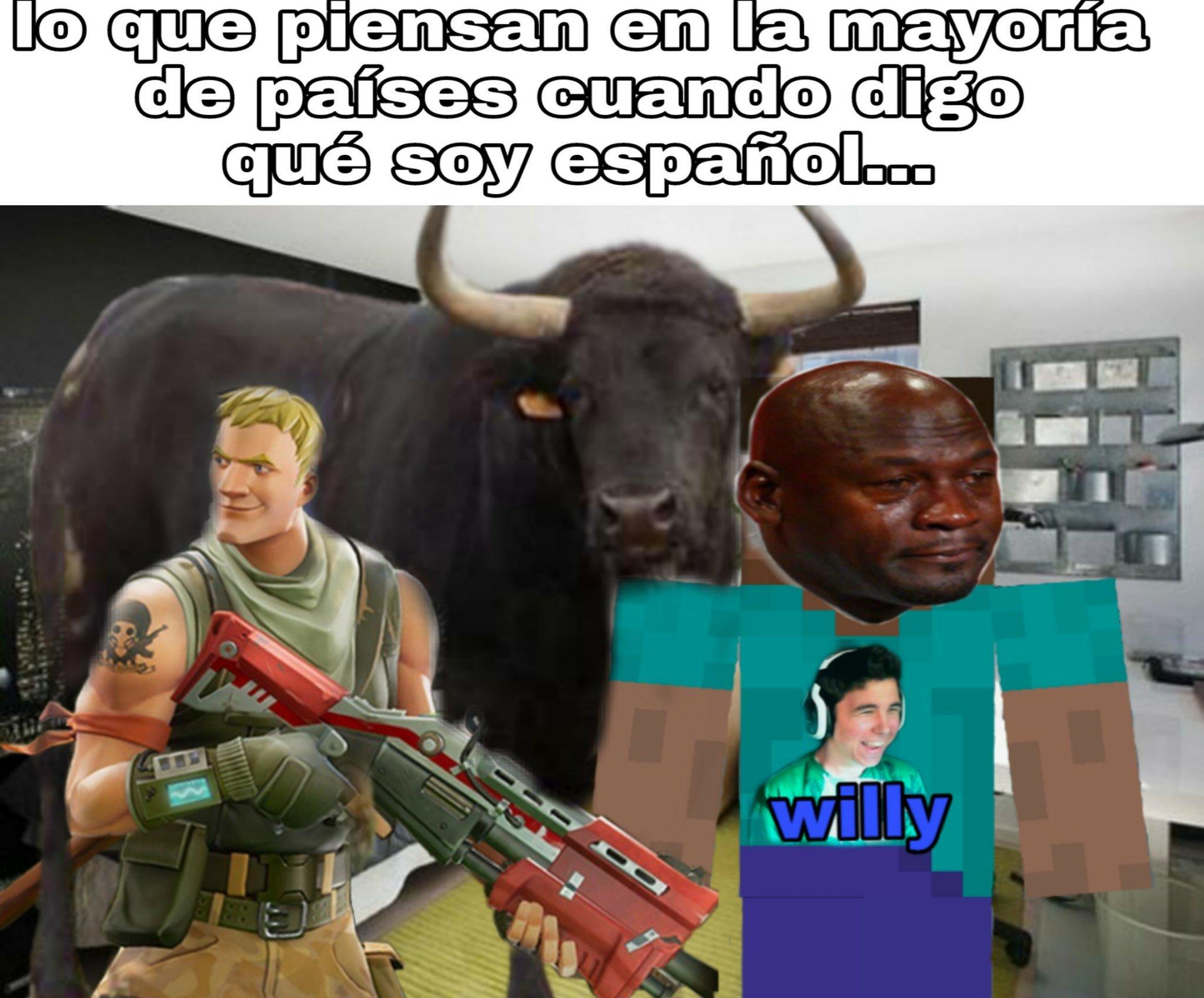 Odio los toros y el fornite... - meme