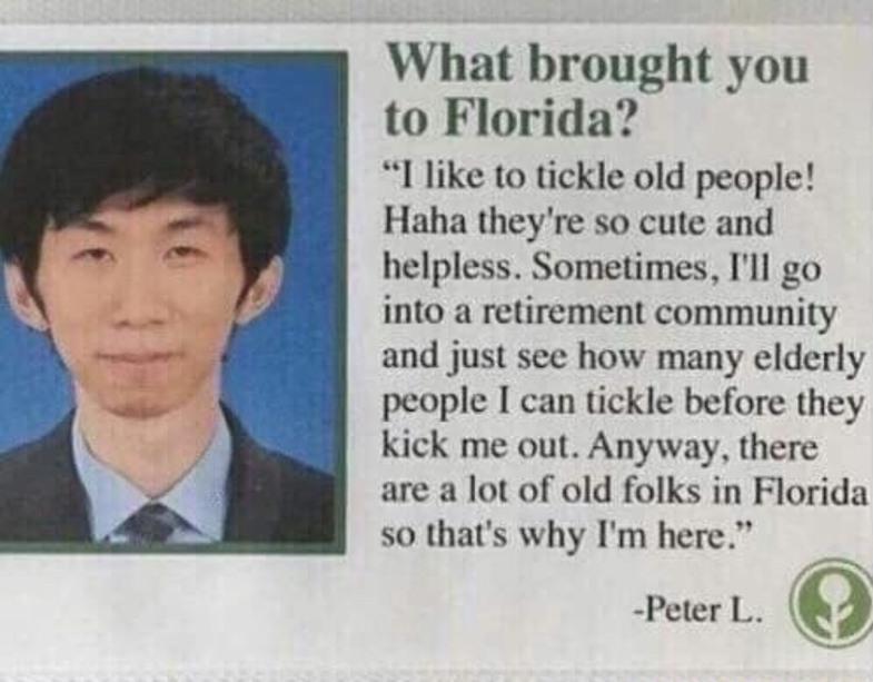 Classic Floridians - meme