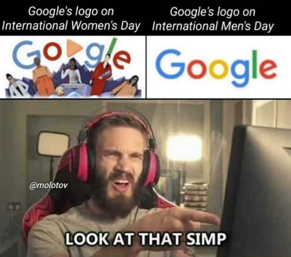 Google simp hijo de perra - meme
