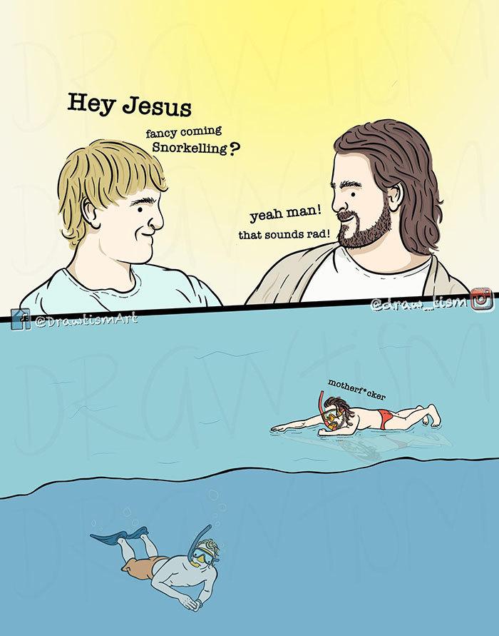 Problems only Jesus has - meme