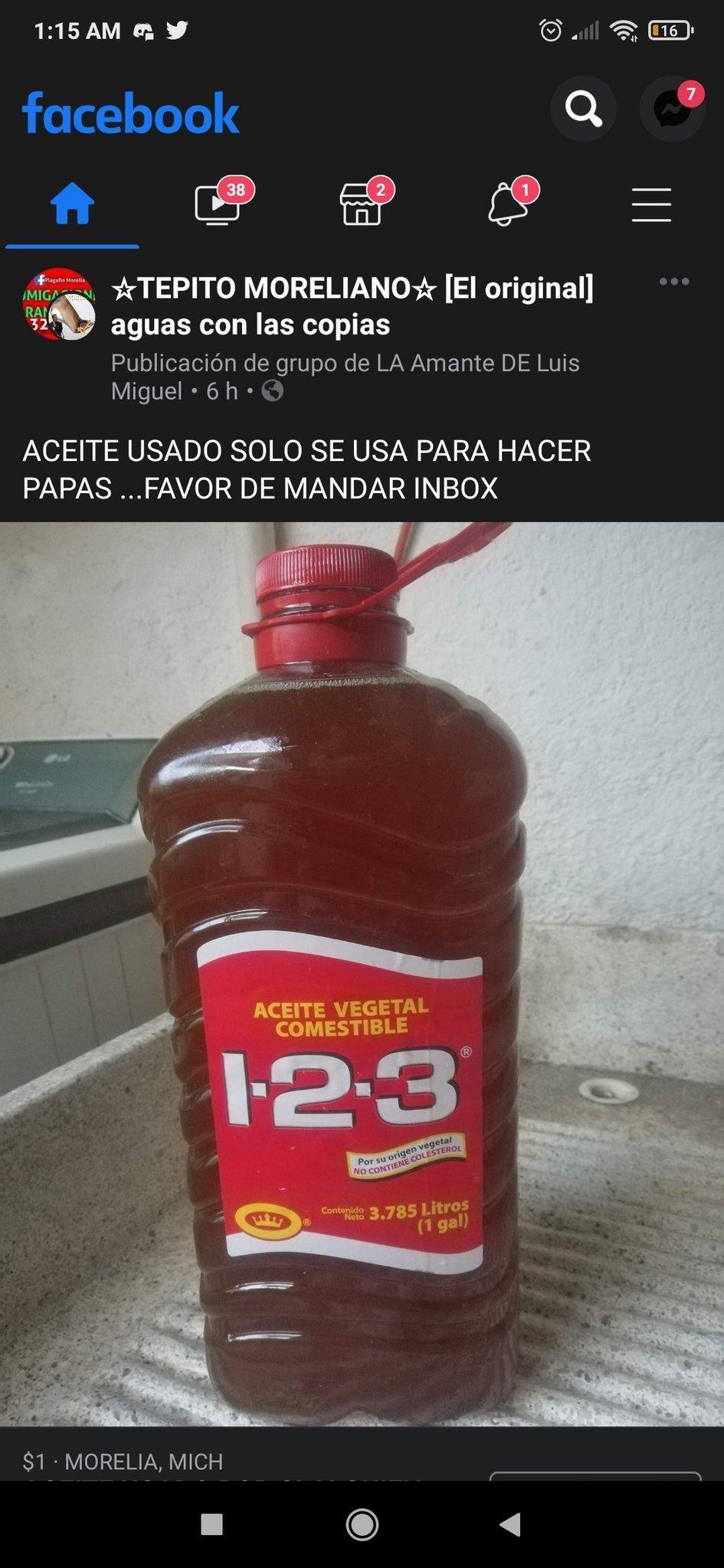 se vende aceite usado - meme