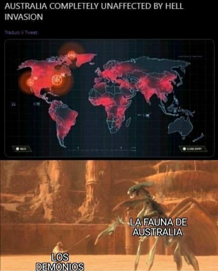 Australia incendio los demonios* - meme