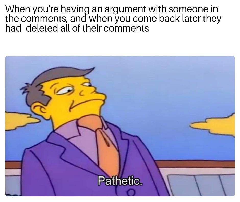 Weaklings die - meme