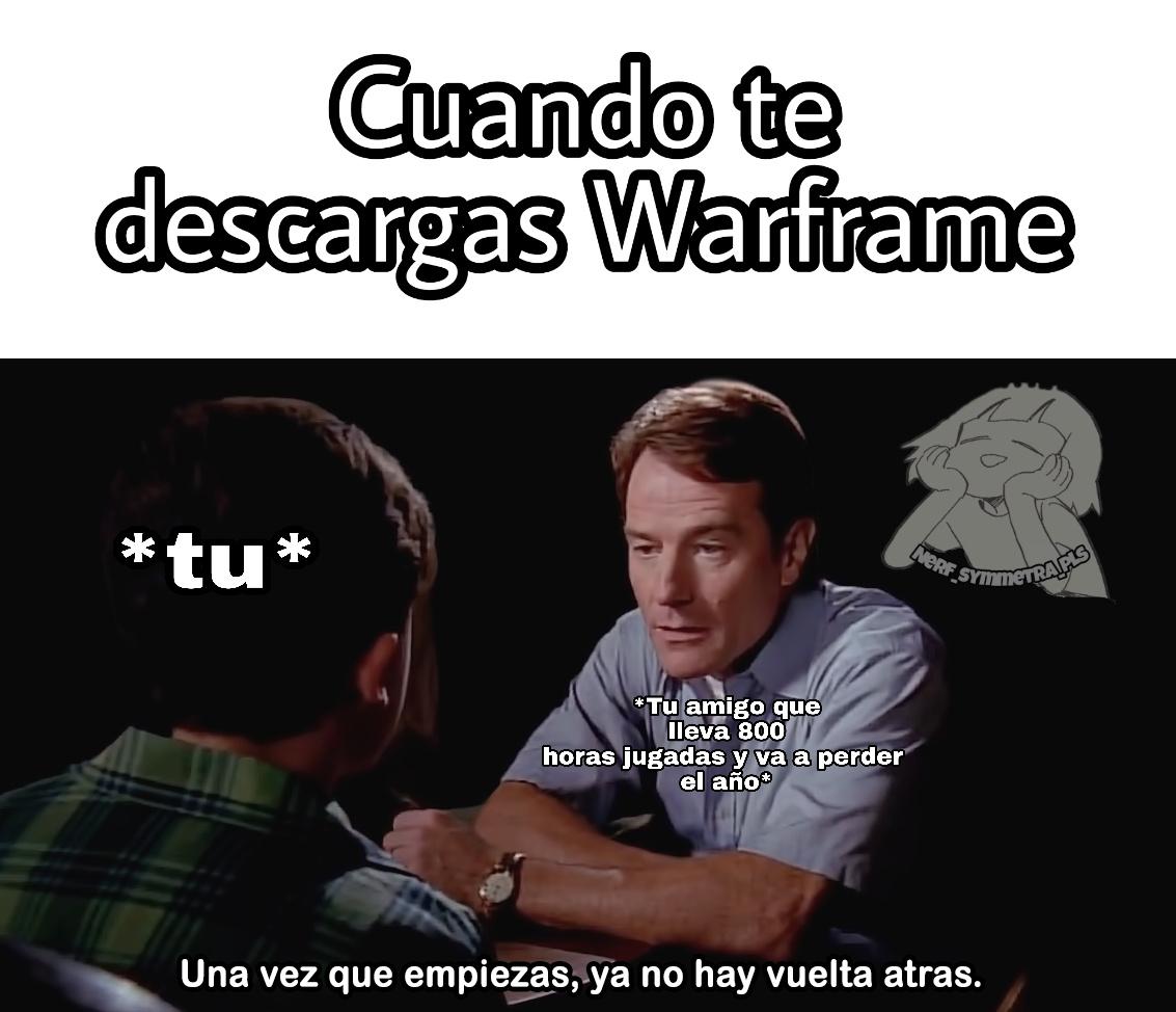 Warframe o cualquier MMO - meme