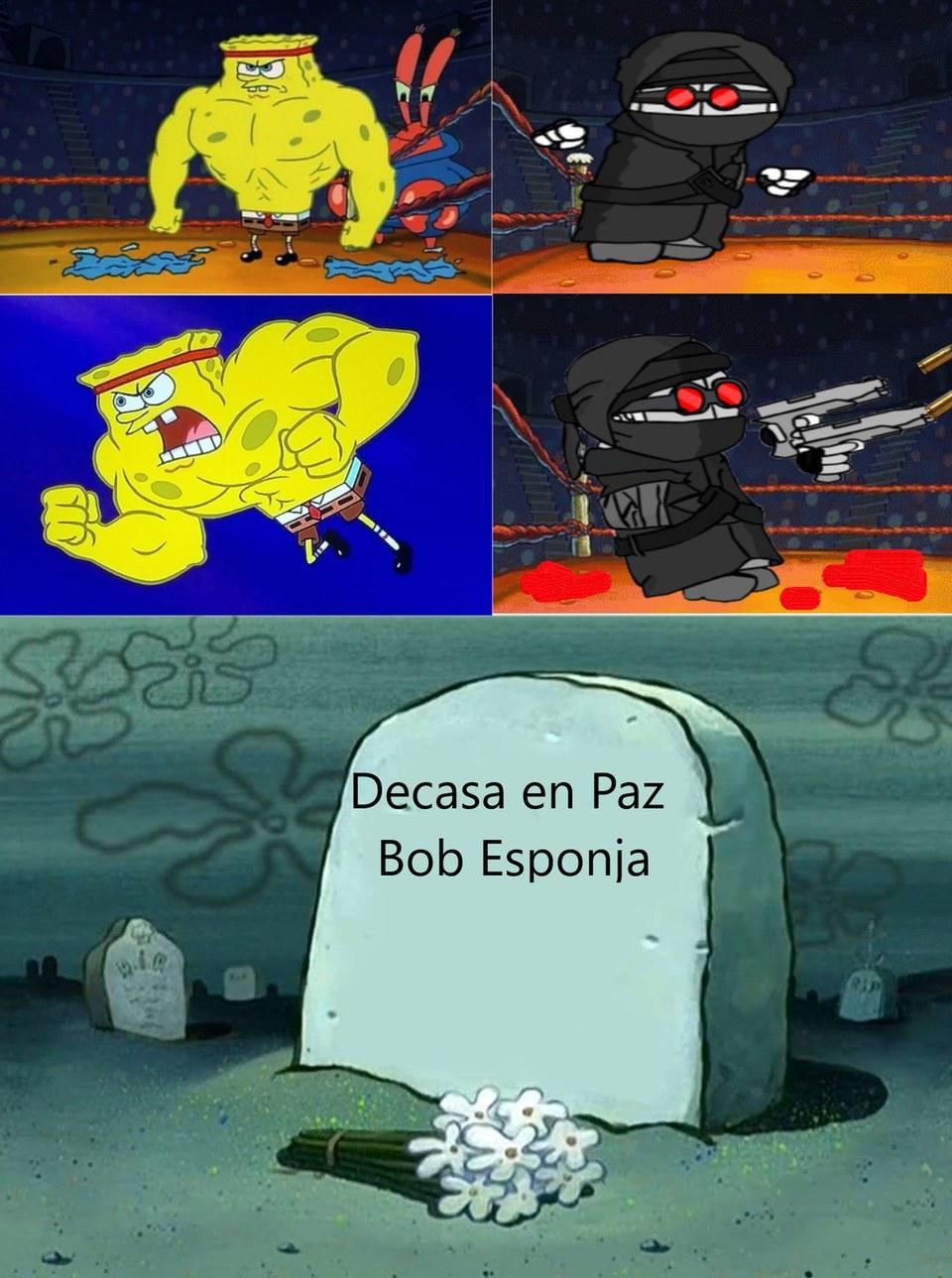 Bob Esponja Musculosos vs Hank - meme