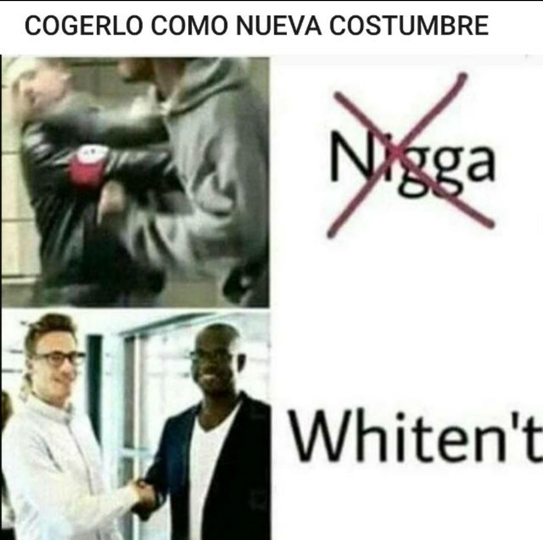 No gracias, prefiero whiten't - meme