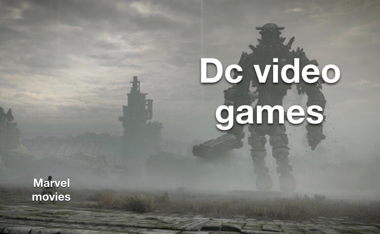 marvel movies vs dc video games - meme