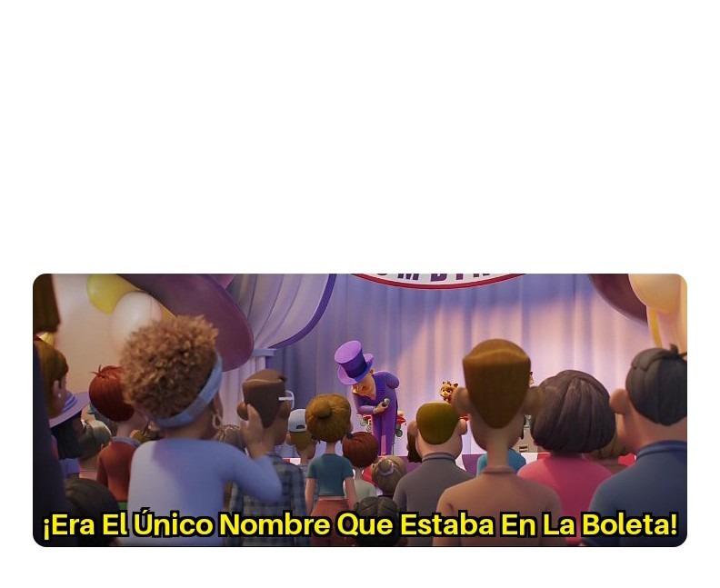Plantilla Grátis: Era El Único Nombre Que Estaba En La Boleta (Háganlo Viral) - meme