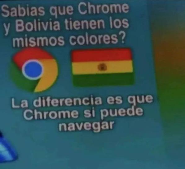 Desde mar de bolivia hasta dragon ball en argentina - meme