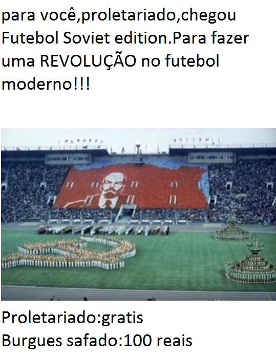 Lenin nos estadios de futebol - meme