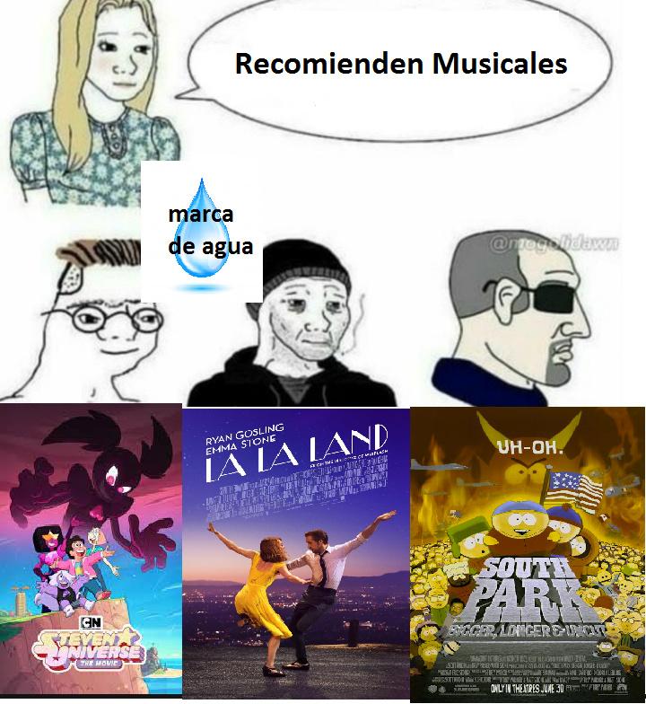 SI, la pelicula de south park es un musical - meme