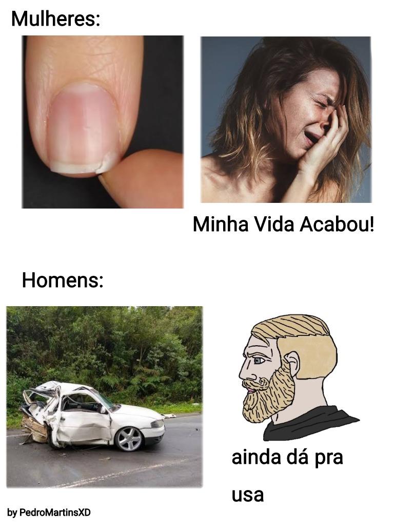 Homens vs mulheres - meme