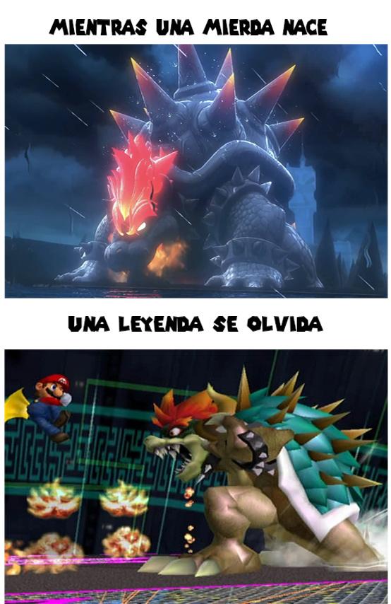 """Ni El Nuevo Mario """"Saijayin"""" Derrota Al Giga Bowser En Modo Extremo De Melee (Y El Evento 51) - meme"""