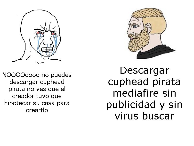 me encanta cuphead pirata - meme