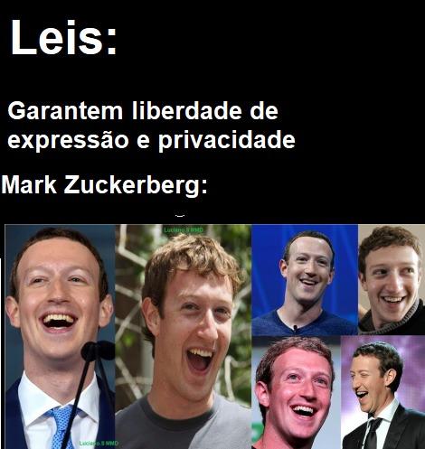legenda alternativa do meme: Quando Mark Zuckerberg vê os seu pinto pequeno nos nudes