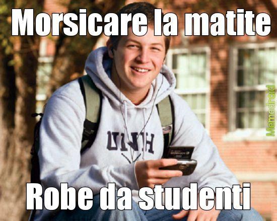 Robe da studenti - meme