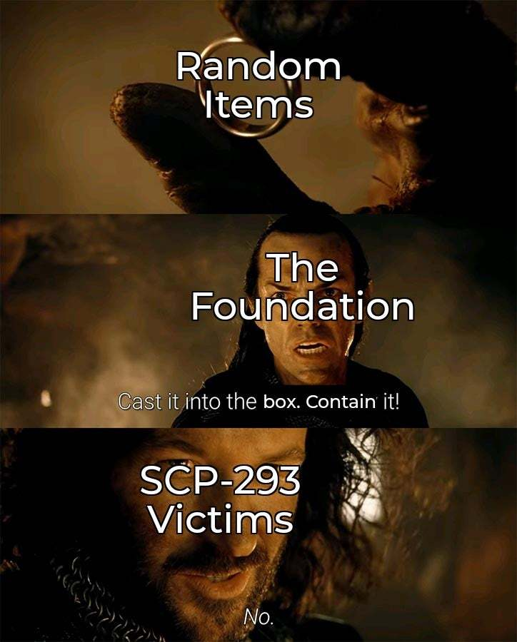 SCP-293 (Obsession) - meme