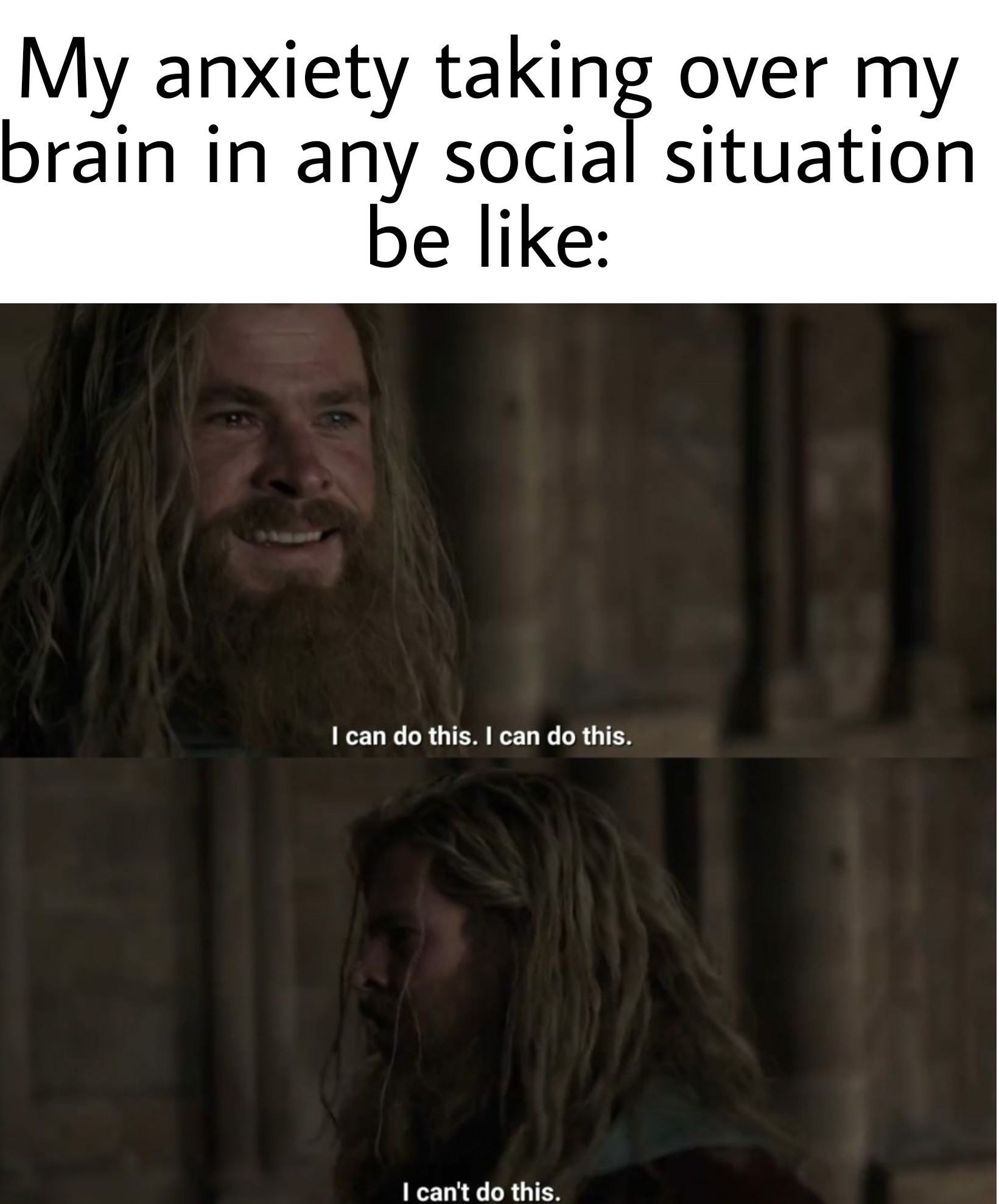 I was diagnosed with severe anxiety :( - meme