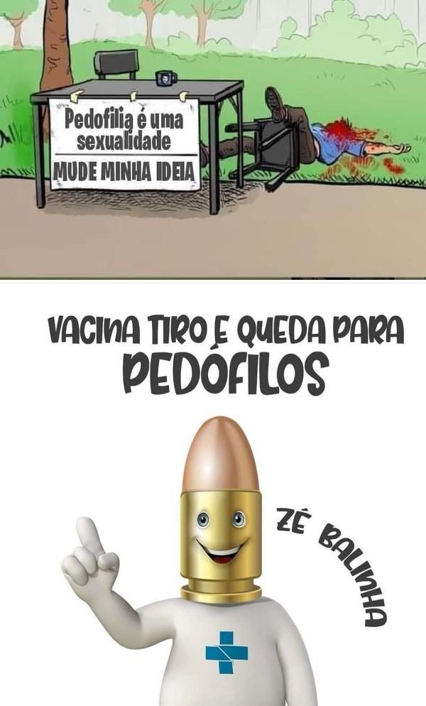 Vacina para pedofilos - meme